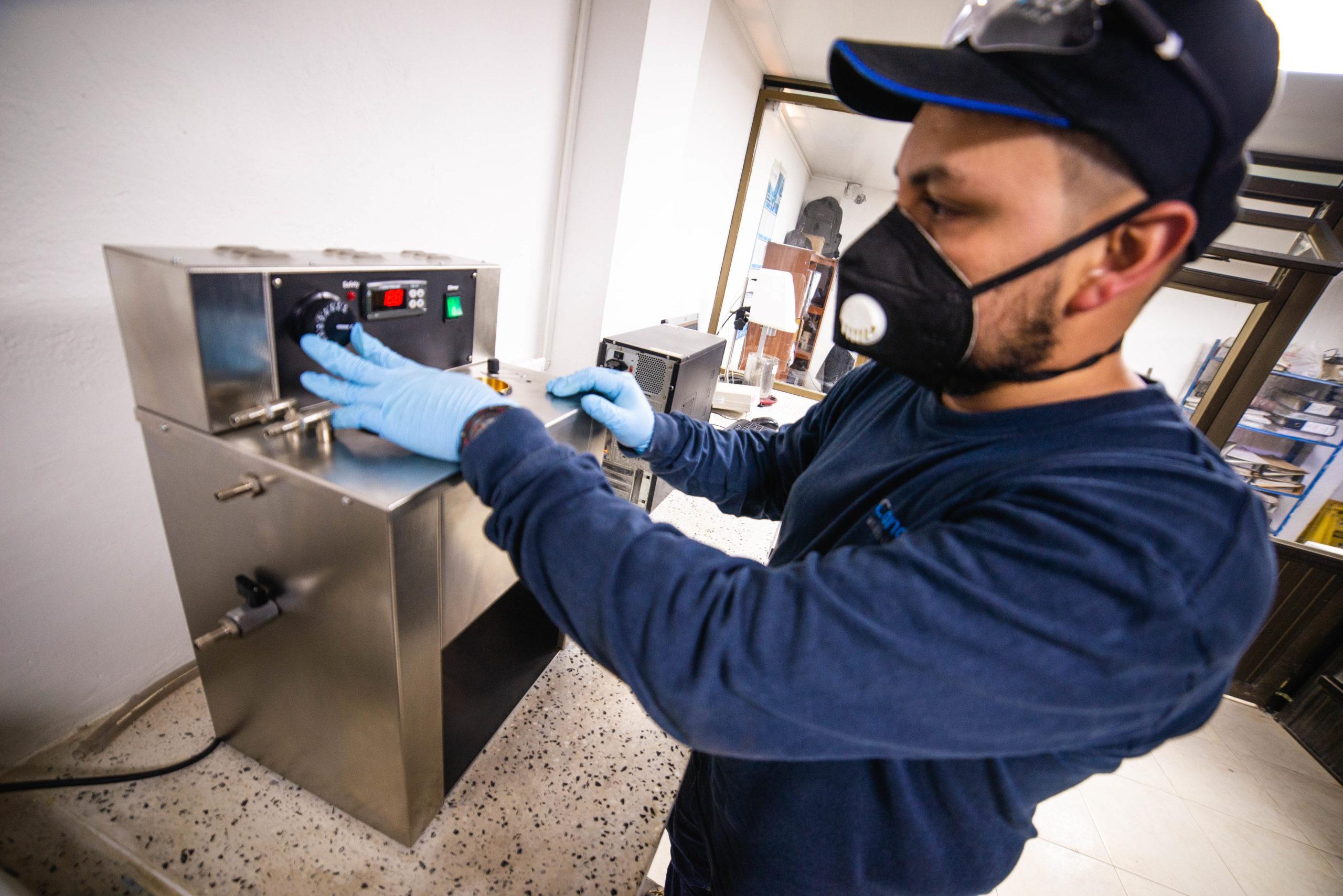 Ensayo Viscosimetro BrookField - Concrelab - Laboratorio de materiales